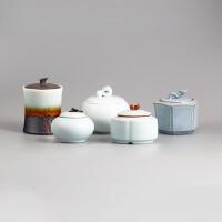 粗陶茶叶罐 陶瓷密封茶叶罐大号茶叶盒 功夫茶具存茶罐子