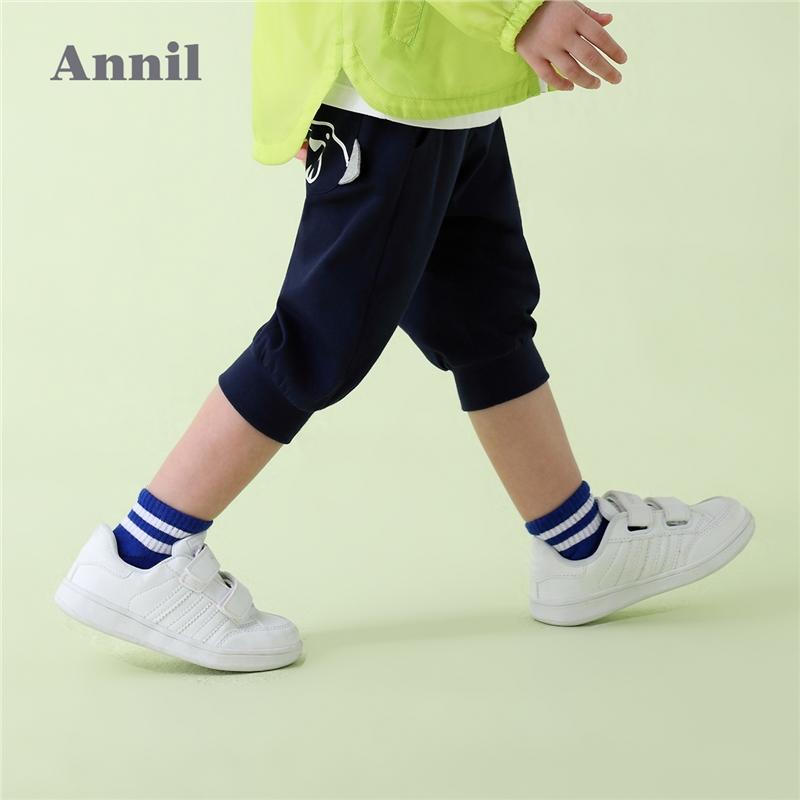 【3件3折:41.7】安奈儿童装男小童七分裤夏装新款洋气纯棉宝宝休闲裤子1-3岁 时尚版型,宽松舒适,活动自如