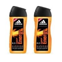 Adidas阿迪达斯男士沐浴露250ml 两支套装 能量0296