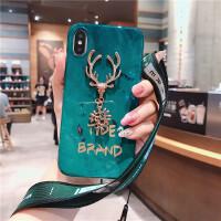 麋鹿苹果x手机壳潮iPhone7plus6s保护套i8p带挂绳x软壳女款
