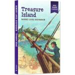 金银岛英文原版小说 Treasure Island 学生易读名著经典 简写插画版世界文学名著 儿童全彩版
