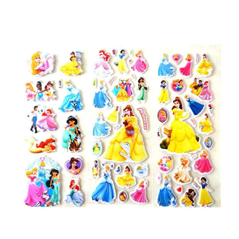 白雪公主贴纸女孩玩具贴画儿童3d立体泡泡贴卡通动漫小粘贴
