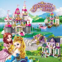 启蒙拼装公主系列女孩子玩具冰雪奇缘积木乐高梦幻6马车8城堡10岁