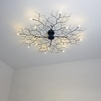 创意树枝灯北欧个性卧室客厅吸顶灯具铁艺酒店会所大气装饰灯饰