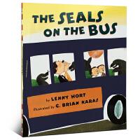 英文原版童书大奖绘本 The Seals on the Bus 吴敏兰书单123推荐第80本 2-5岁推荐阅读英语 儿