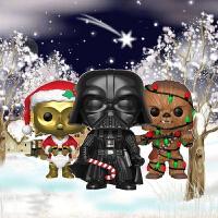 手办达斯维达公仔楚巴卡玩偶圣诞版星球大战周边黑武士