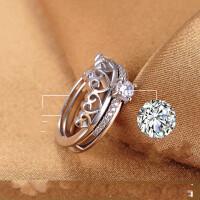 皇冠戒指女日韩潮人学生复合款食指创意情人节礼物送女友