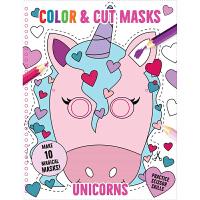独角兽 Color & Cut Masks: Unicorns 英文原版 低幼儿童启蒙认知绘本玩具书 亲子互动