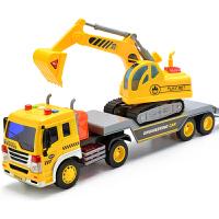大号挖掘机货车云梯升降消防车儿童玩具男孩子挖土机工程车翻斗车