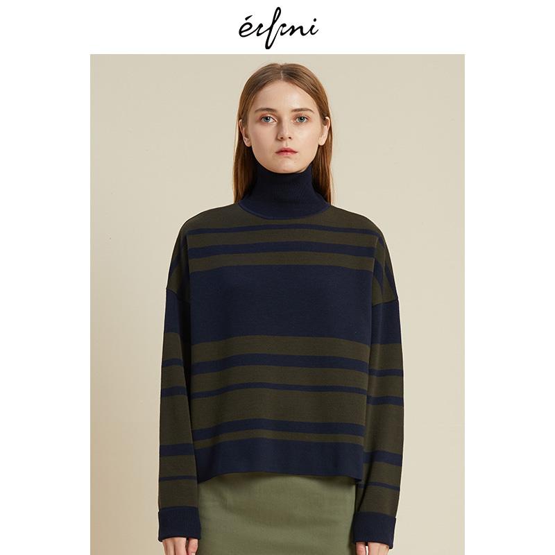 2件4折 伊芙丽2018冬装新款韩版时尚女装毛针织衫1188934751