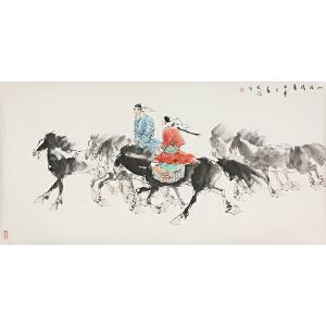 刘大为(款) 《草原骑手》