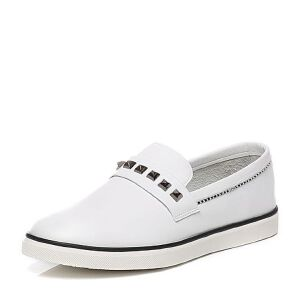 Teenmix/天美意夏季专柜同款牛皮时尚学院风男休闲鞋1WU01BM6
