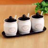 创意百搭原创陶瓷调味盒调味罐套装