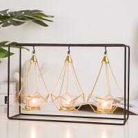 烛台客厅家居装饰品北欧蜡烛创意摆件浪漫烛光晚餐小道具