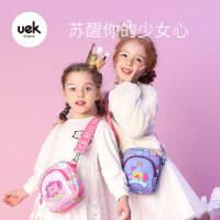 "uek�和�斜挎包女�r尚可�坌""�公主潮小女孩背包挎包迷你女童包包"