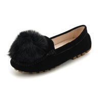 【领券减150】Safiya/索菲娅秋季甜美舒适低跟毛毛单鞋女SF83111088