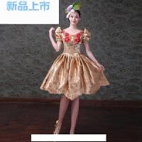 欧式宫廷服装2018晚装宴会小礼服舞台演出蓬蓬裙短款女
