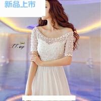 女神气质钉珠波西米亚度假雪纺长裙连衣裙伴娘裙长款礼服