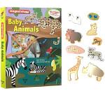 Baby Animals 英文原版 Twirl 儿童自然科普 STEM教育 磁铁操作书含45个动物磁铁