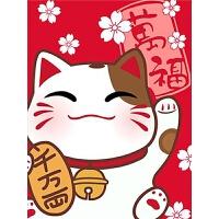 十字绣招财猫DIY贴钻画小幅满绣卧室画