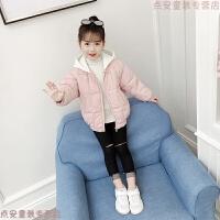 童装女童冬装棉衣2018新款韩版儿童女孩加厚宝宝洋气短款棉袄
