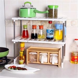 门扉 厨房置物架 可伸缩架子下水槽架厨房置物架多层收纳架储物架双层锅架