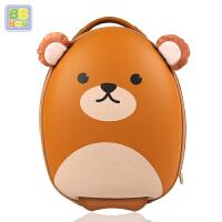 儿童拉杆箱男女孩宝宝行李箱背包套装卡通旅行箱1-3-5岁抖音同款 橘黄 熊拉杆箱 行李箱