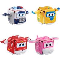 奥迪双钻超级飞侠儿童变形机器人玩具小孩趣味包裹乐迪小青包警长
