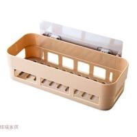创意家居用品厨房卫生间浴室多功能塑料无痕黏贴式洗漱用品储物架