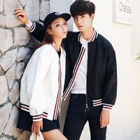 秋季外套男士飞行员夹克男薄款青年修身棒球服情侣装韩版休闲夹克