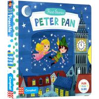 Peter Pan 彼得潘 英文原版 first stories busy系列童话篇 纸板机关操作活动书