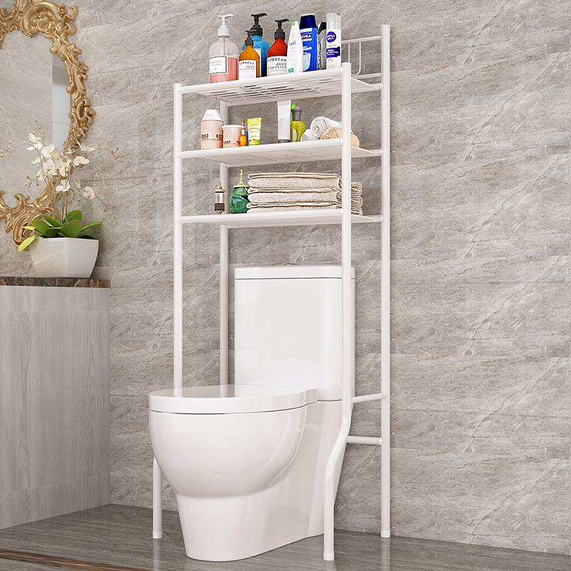 索尔诺浴室卫生间多功能马桶架置物架厕所整理架落地洗衣机架层架置物架Z723 承重稳牢 环保时尚 防水防锈