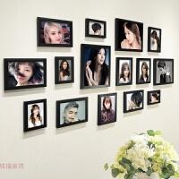 美发店装饰照片墙背景墙理发店发型挂画个性创意相框墙相片墙壁画