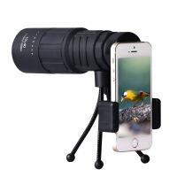 双调焦高清绿膜手机摄影版黑狐系列10X40单筒望远镜