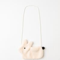 【2件3折:15】巴拉巴拉旗下巴帝巴帝女2019秋冬新款毛绒绒的小兔子包包