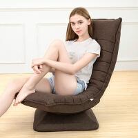 懒人沙发客厅单人折叠躺椅卧室榻榻米布艺月亮椅电脑椅靠背可调节