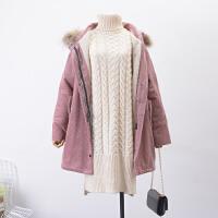 2018【2.2斤】FSLL#22秋冬季新开衫拉链羊羔毛灯芯绒外套