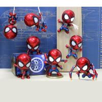 钢铁蜘蛛侠玩具摇头公仔英雄归来模型复仇者联盟周边摆件 送两张磁铁片