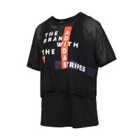 adidas/阿迪达斯女款2019夏新款半袖宽松透气T恤DW7777