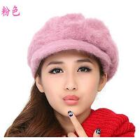 冬季时尚百搭毛线帽 秋冬天韩版女士帽子兔毛帽保暖女帽