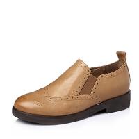 Tata/他她春季专柜同款时尚休闲羊皮女单鞋2I2A6AM6