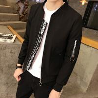 男士夹克外套春季新款青少年韩版修身精神小伙帅气大码学生外套潮