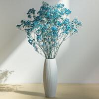 干花花瓶小清新陶瓷欧式摆件客厅满天星插花白色文艺简约家居装饰
