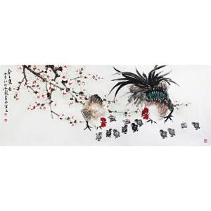 冯云龙《春天来了》著名画家 有作者本人授权1.8米带收藏证书