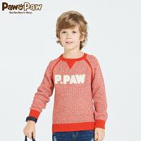 【2件2.5折 到手价:125】Pawinpaw宝英宝卡通小熊童装春季新款男童圆领套头毛衣