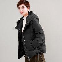 轻薄羽绒服女短款冬装加肥加大码胖MM宽松潮时尚保暖外套