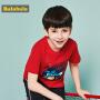 巴拉巴拉童装男童短袖T恤中大童儿童夏装2018新款印花圆领上衣潮