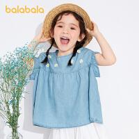 【3件5折价:55】巴拉巴拉童装儿童衬衣女童夏装儿童短袖小童宝宝衬衫甜美