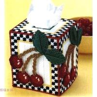立体绣纸巾盒新款立体十字绣套件毛线绣樱桃手工非成品 7CT