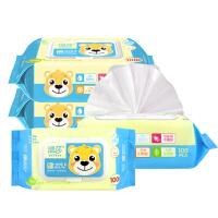 [当当自营]温莎婴儿口手湿巾100片*4包